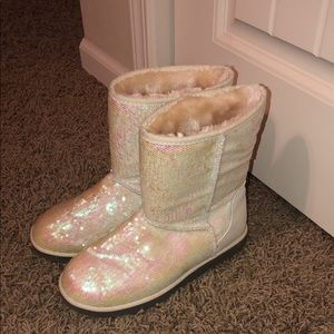 "Like new sequin boots ""So"" brand"